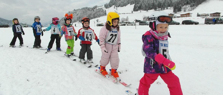 Zwergerl-Skikurs vom SV Nußdorf/Inn