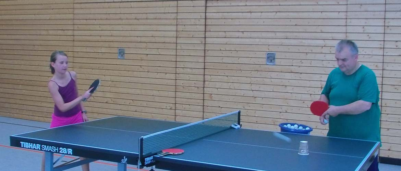 Training Tischtennis, SV Nußdorf/Inn